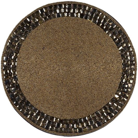 Picture of DELIA place mat d38cm gold