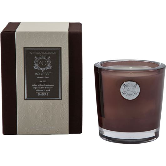 EMBERS candle large brown