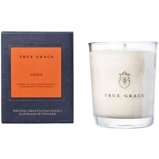 AMBER candle small white/black