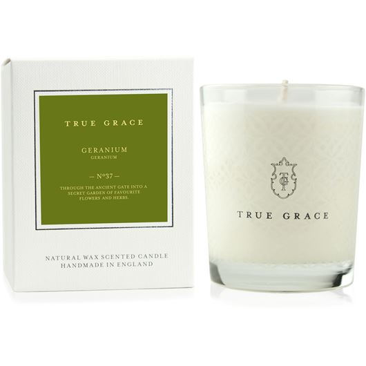 GERANIUM candle small white