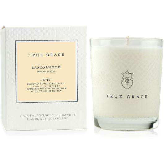 Picture of SANDALWOOD candle small white