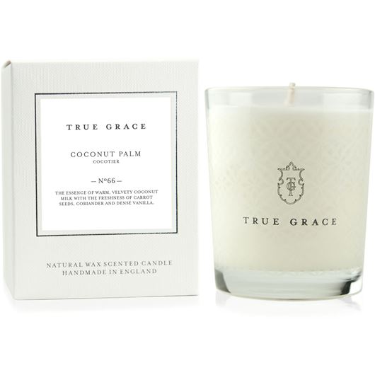 COCONUT PALM candle small white