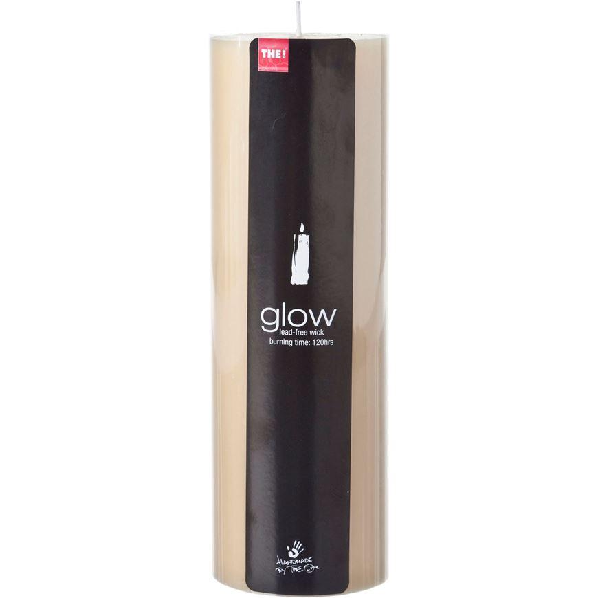 GLOW pillar candle 8x23 cream