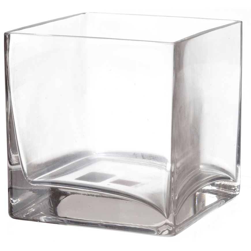 Picture of DUSTRA vase square 13cm clear