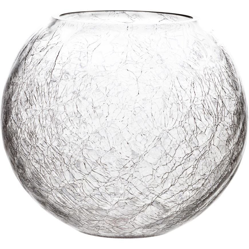 Picture of CRACKLE vase h17cm clear