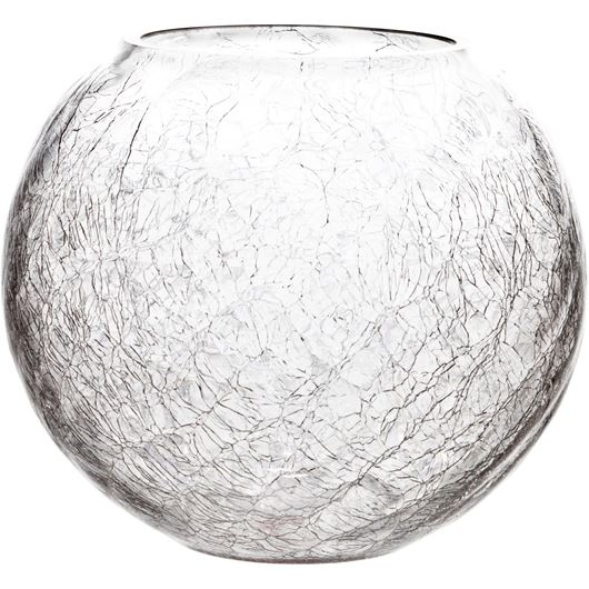 Picture of CRACKLE vase h26cm clear
