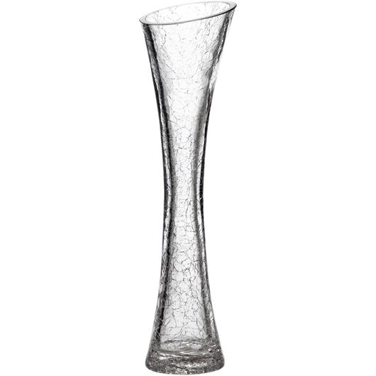 Picture of CRACKLE vase h30cm clear