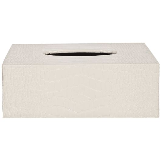 Picture of CROCO tissue box 14x25 beige