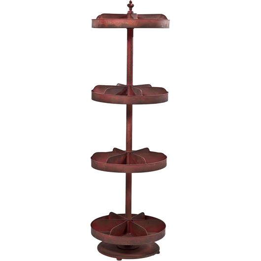 Picture of RION 4 tier display stand h169cm brown