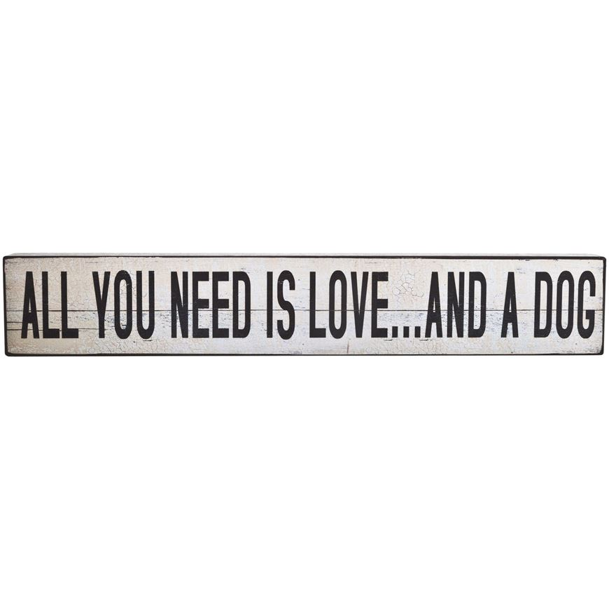 ALL YOU NEED wall deco 13x76 white