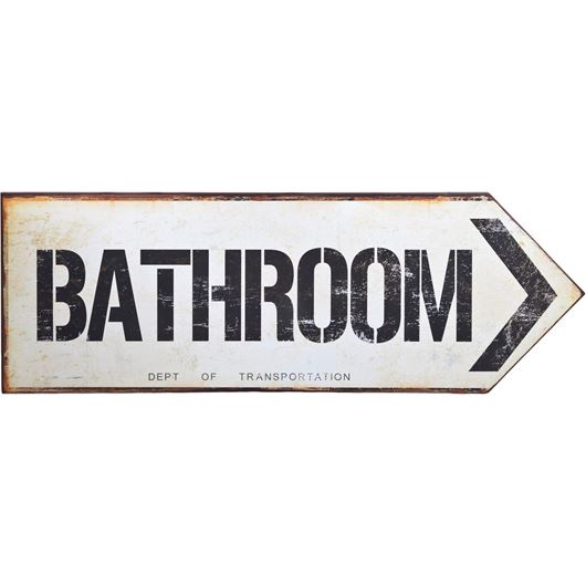 BATHROOM wall deco 21x59 white