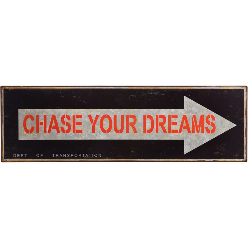 Picture of CHASE wall decoration 19x61 red