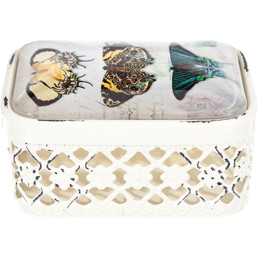 Picture of BUTTERFLY box 10x7 cream