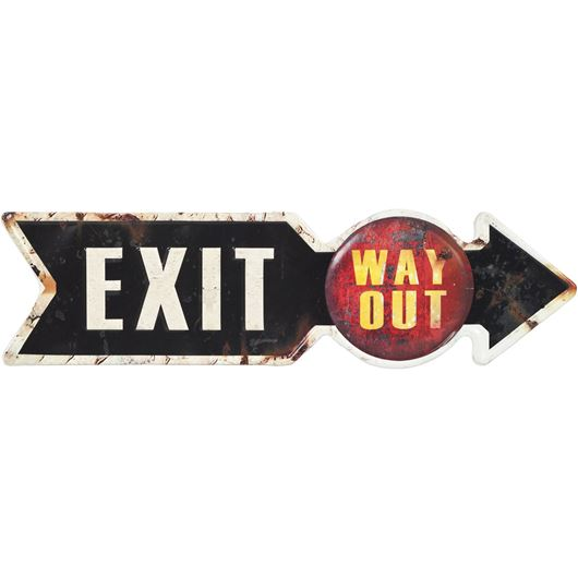 Picture of EXIT wall decoration 15x52 black/white