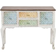CARREY console 107x43 natural/white