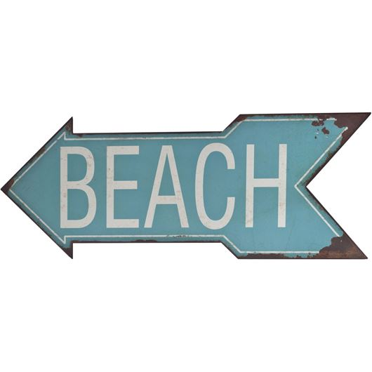 BEACH wall deco 47x19 blue