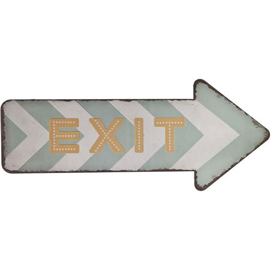 Picture of EXIT wall decoration 40x17 multicolour