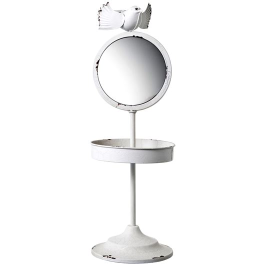 Picture of DOVE stand with mirror h51cm white