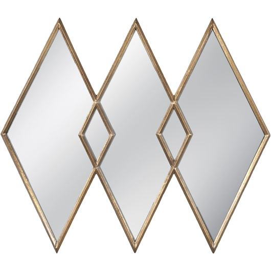 Picture of DIAMOND mirror 106x91 gold