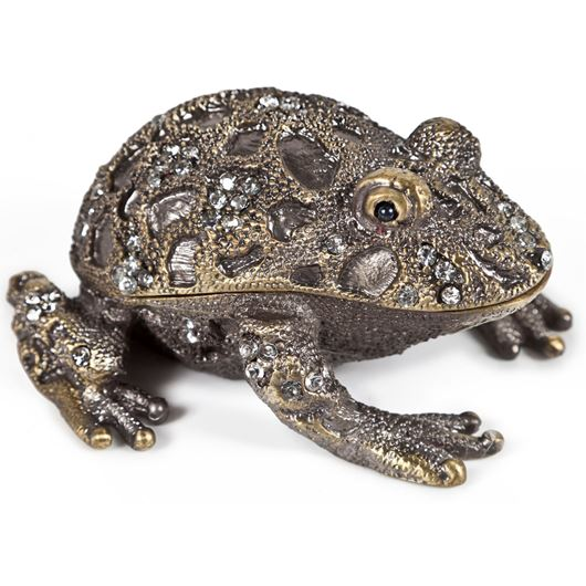 Picture of FROG trinket box 8x8 gold