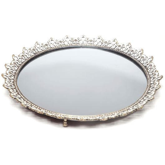 Picture of GEMS mirror tray d41cm gold