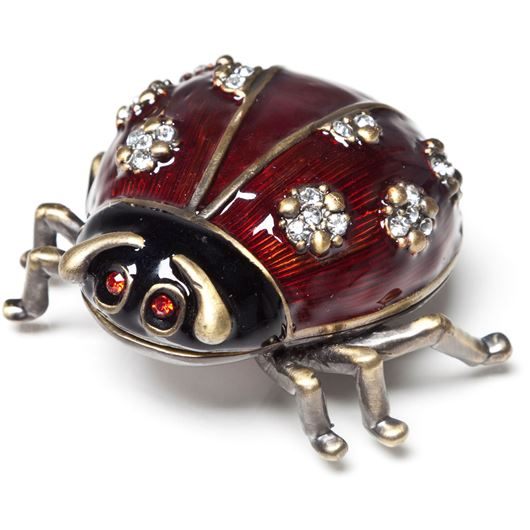 Picture of BEETLE trinket box 6x7 red