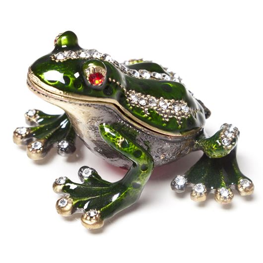 Picture of FROG trinket box green