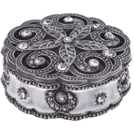 Picture of DAI trinket box d6cm silver