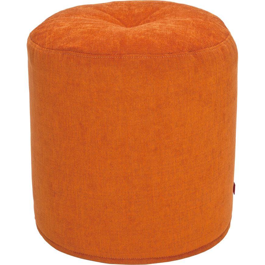 BONBON footstool d43cm orange