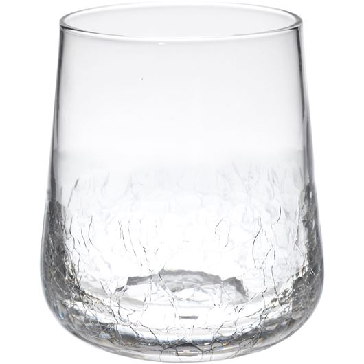 Picture of ALFIE crackle tumbler h11cm clear