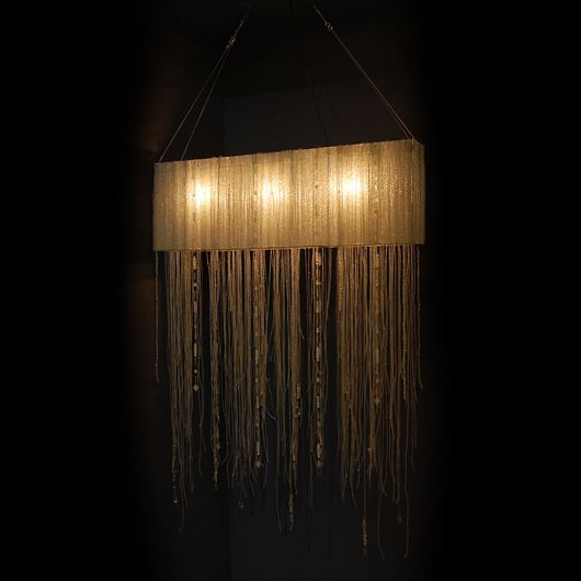 Picture of KRISTY chandelier h90cm clear/nickel