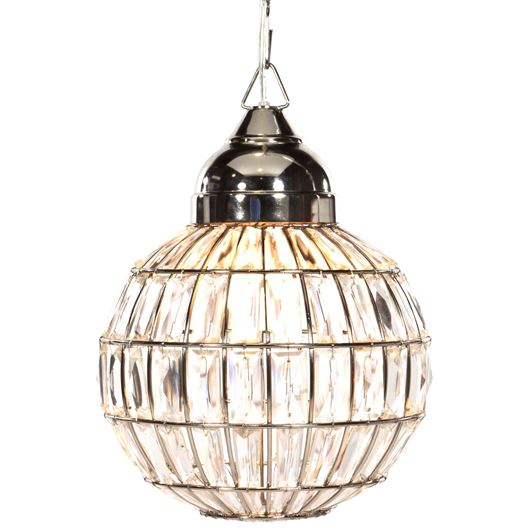 Picture of KRISTEN pendant lamp d40cm clear/nickel