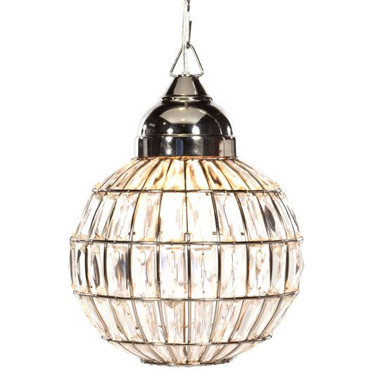 Picture of KRISTEN pendant lamp d28cm clear/nickel