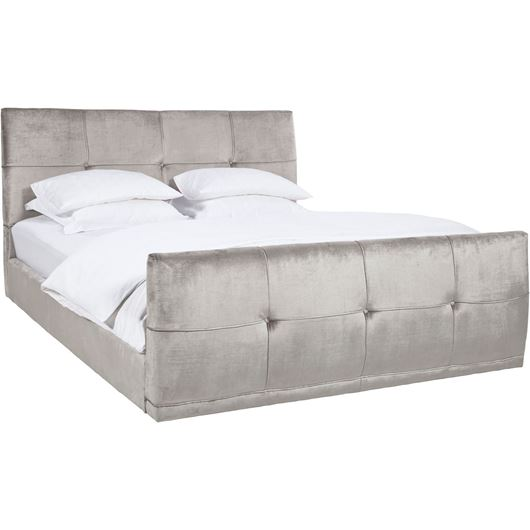 NAP bed 160x200 with footboard grey