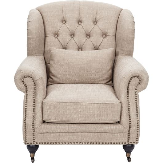 CHARLIE wing chair beige