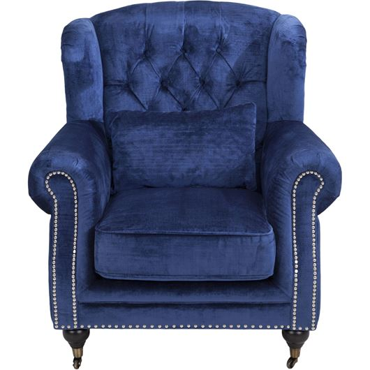 CHARLIE wing chair blue