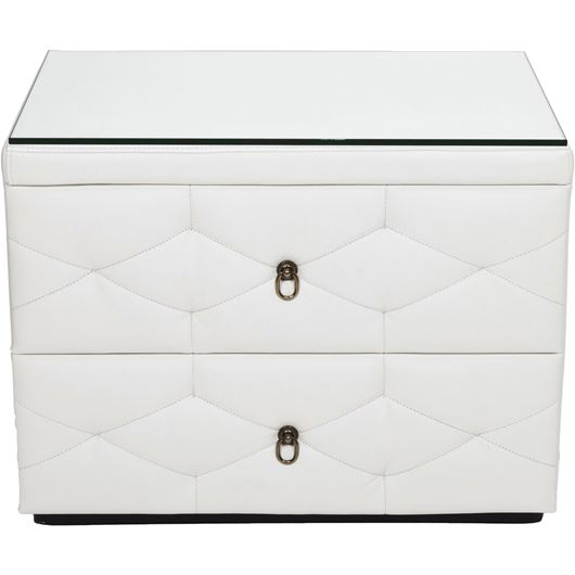 ZENN bedside table leather white
