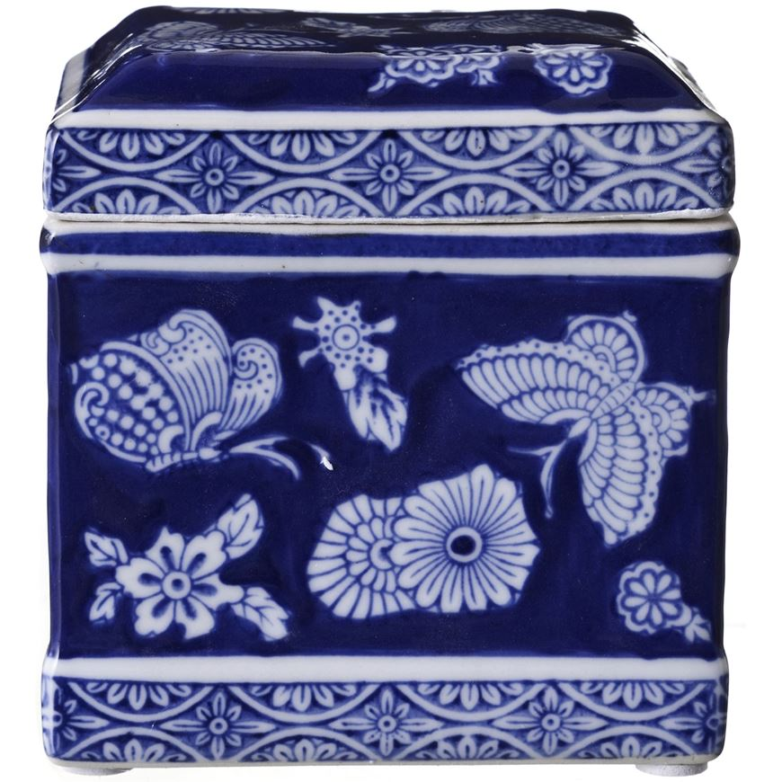 Picture of ARATA jar with lid h12cm blue