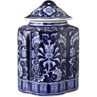 Picture of AYANE jar with lid h26cm blue