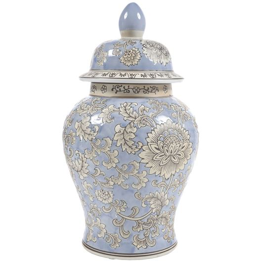 Picture of CHIYO jar with lid h44cm blue