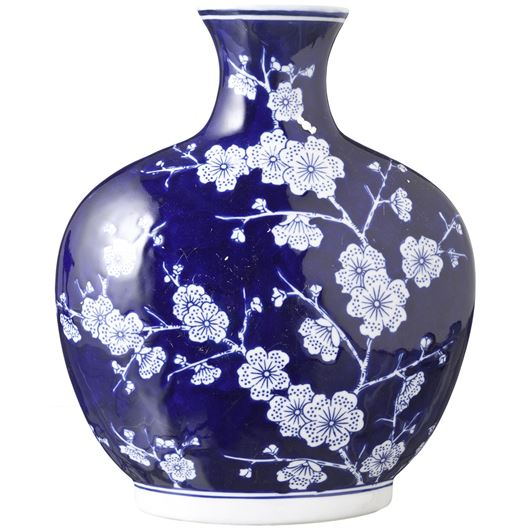 Picture of AYA vase h31cm blue/white