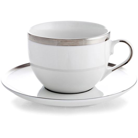 Picture of LUSTRE tea cup and saucer off-white