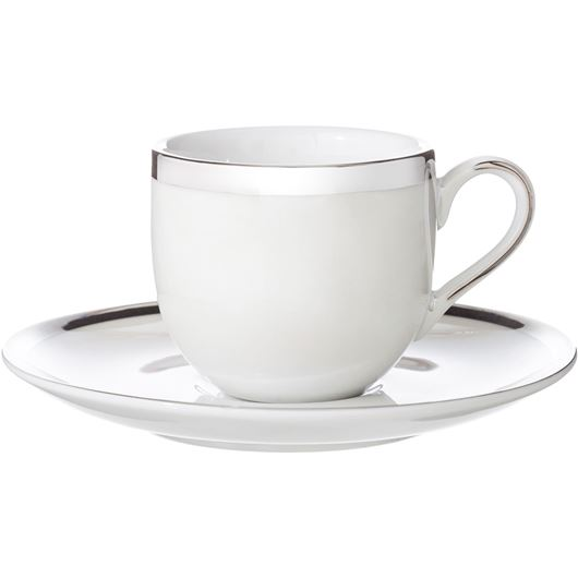 Picture of LUSTRE espresso cup and saucer off-white