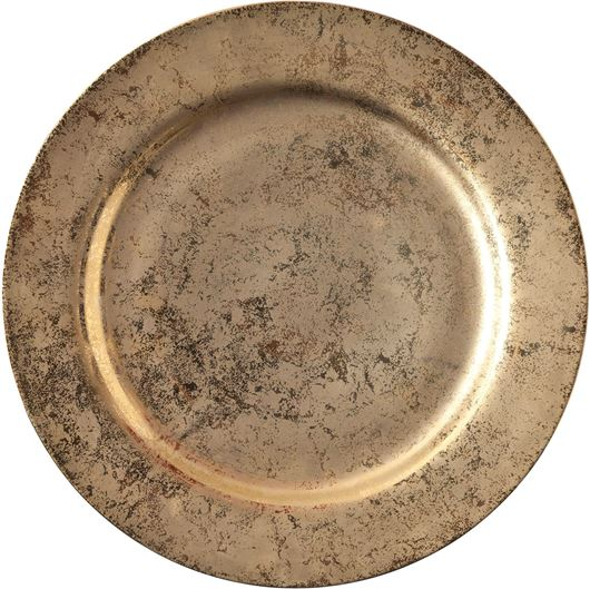 Picture of DONNA charger plate d31cm gold