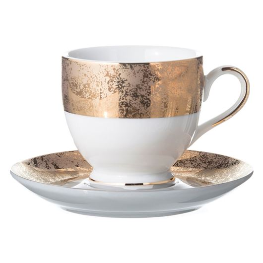 Picture of DONNA espresso cup and saucer gold