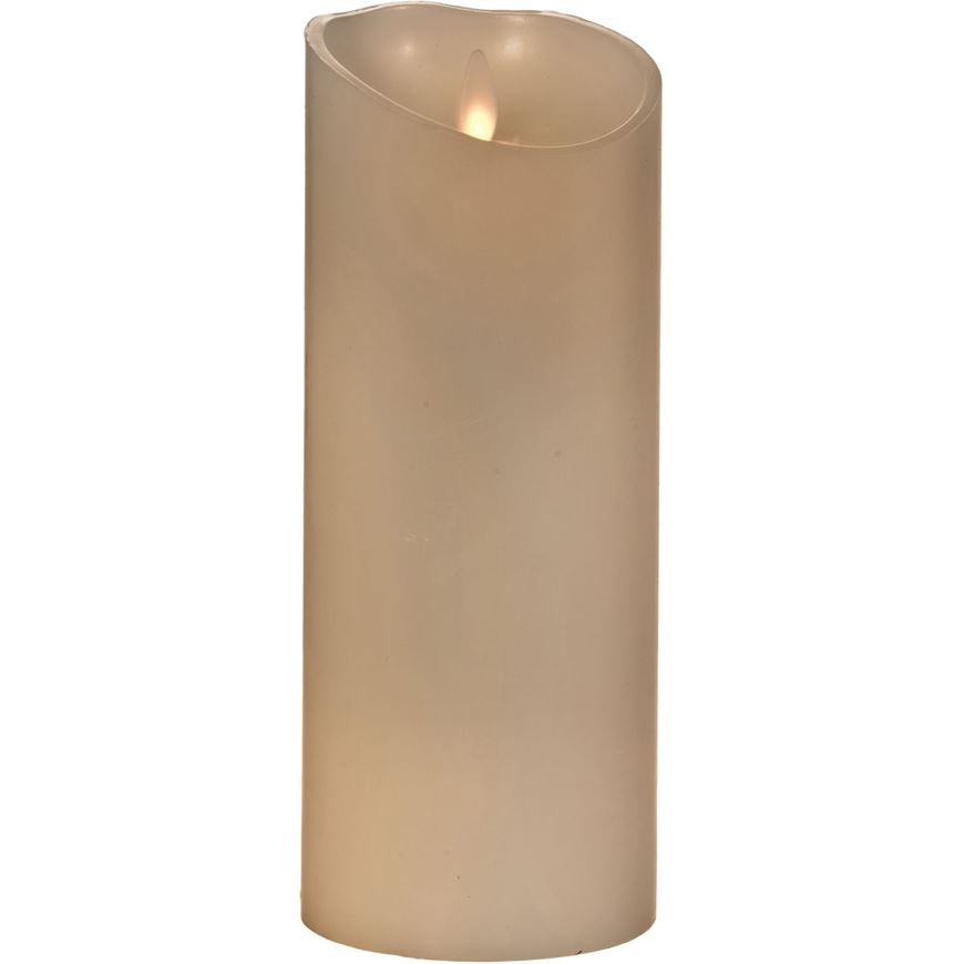 FLAMELESS candle 9x23 white