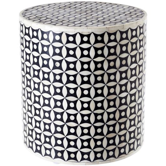 KANOR stool d36cm black/white