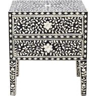 KANOR bedside table black