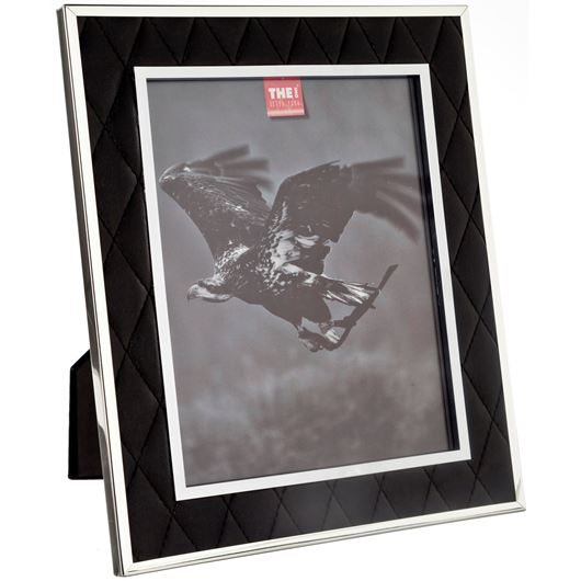 Picture of LEATHER photo frame 20x25 black