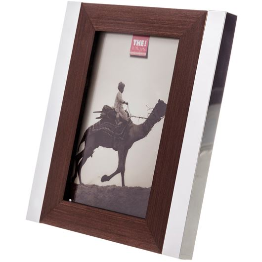 Picture of WOOD photo frame 10x15 brown